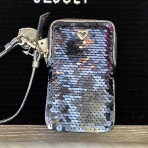 Coach Accessories - Coach NWT Uni POP Sequin Case / wristlet in Steel